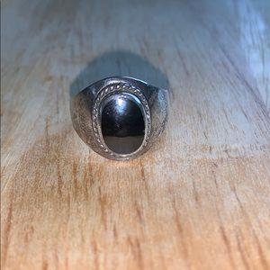Black Stone Ring